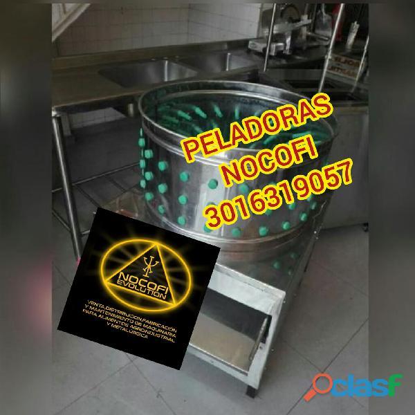 PELADORA DE POLLOS, DESCASCARILLADORA DE CACAO Y REFINADOR PARA CACAO