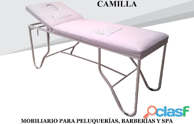 102 EXCEPCIONAL CAMILLA MASAJES, TOCADOR CAMERINO, SILLA DE MANICURE.