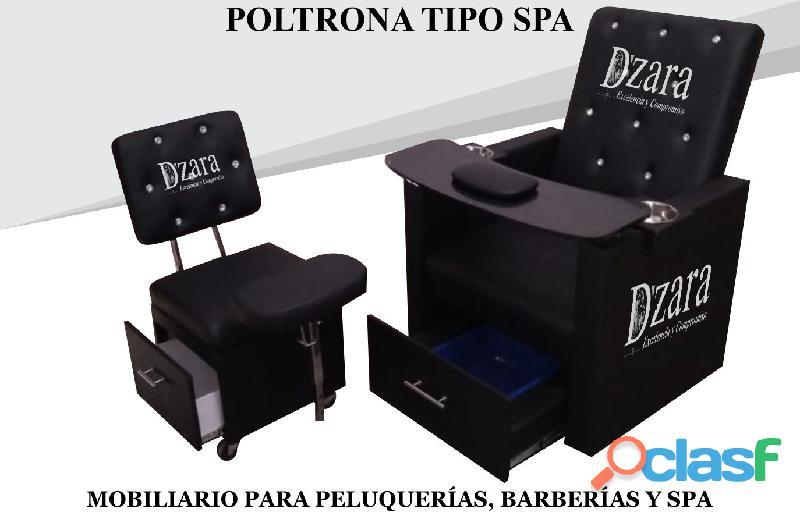 116 IMPECABLE POLTRONA TIPO SPA, RECEPCION, SILLA PARA BARBERIA.