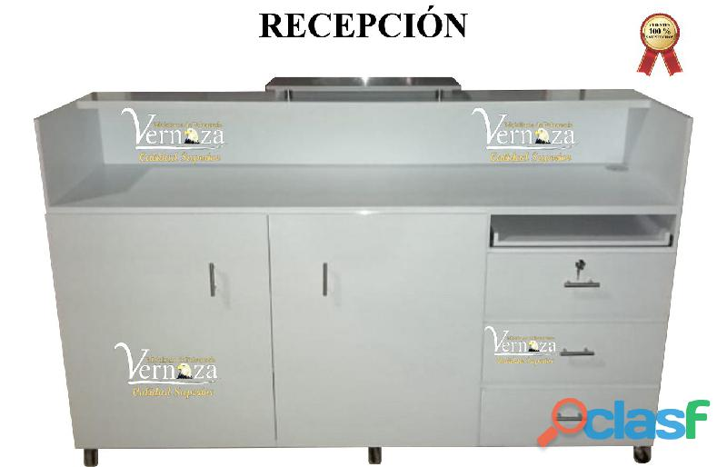 398 LUJOSA VITRINA TORRE, RECEPCION, TOCADOR, SILLA DE BARBERIA, POLTRONA PEDICURE. DE CALIDAD