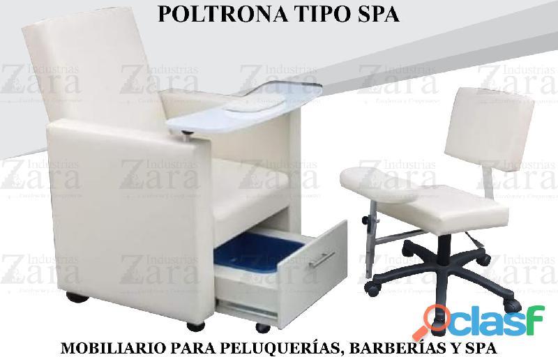 92 UNICA POLTRONA TIPO SPA, RECEPCION, SILLA PARA BARBERIA.