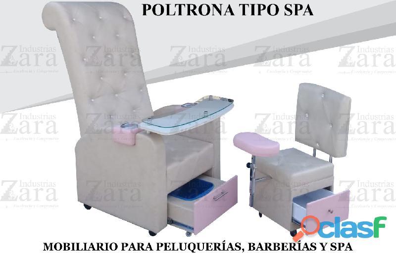 95 PRESTIGIOSA POLTRONA TIPO SPA, RECEPCION, SILLA PARA BARBERIA.