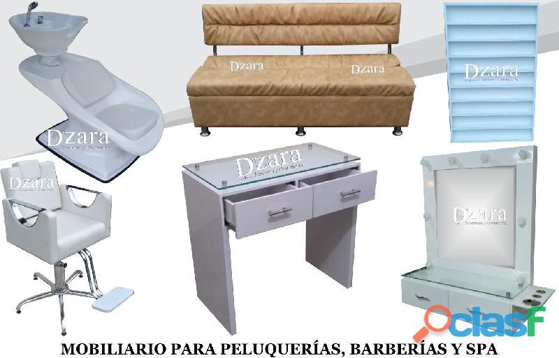 139 EXCLUSIVOS MUEBLES PARA PELUQUERIA, MESA MANICURA, LAVACABEZAS, SILLA DE PELUQUERIA.