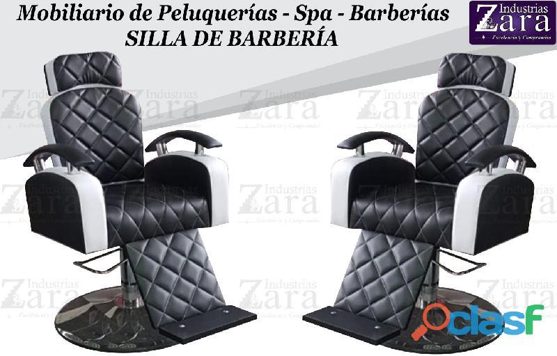 146 BRILLANTES SILLAS DE BARBERIA, POLTRONA PEDICURE, RECEPCION.