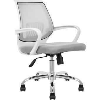 Silla oficina blanca ergonomica giratoria apoyo lumbar
