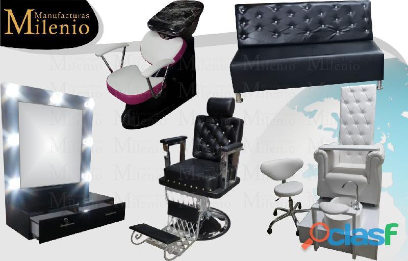 238 muebles de peluqueria, lavacabezas, silla de peluqueria, mesa manicura.