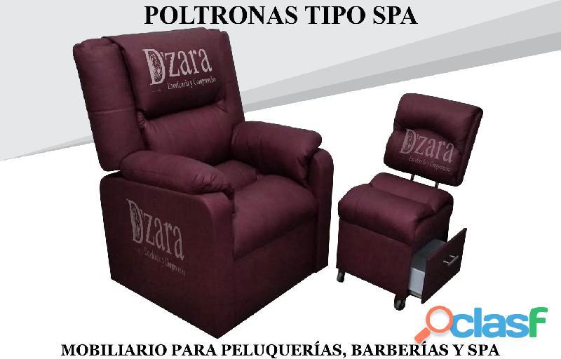 254 duradero poltrona pedicure, recepcion, silla para barberia. 254fabrica muebles para salones de b