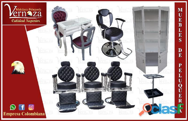 55 mobiliarios para barbería, poltrona spa y peluquería, lavacabezas, silla de peluqueria, mesa man