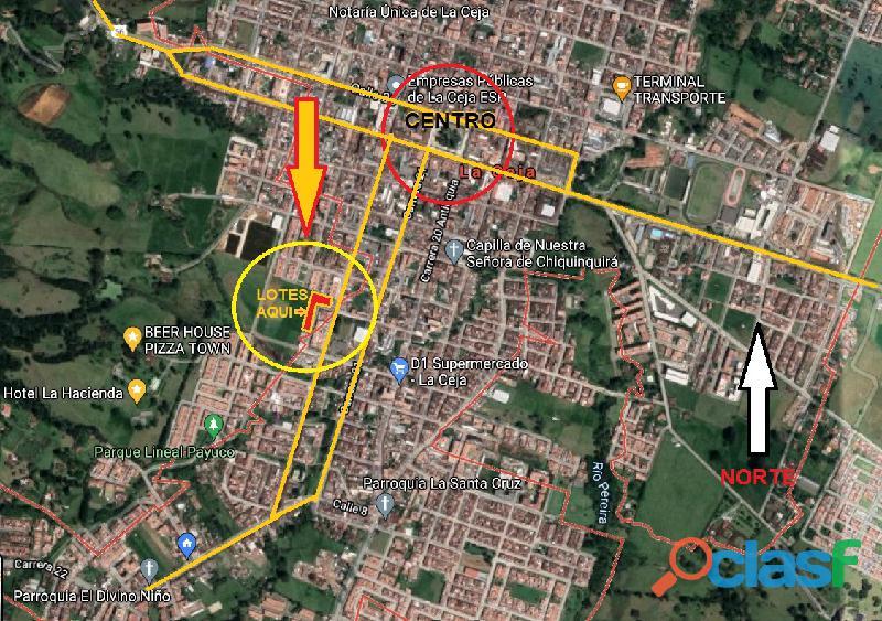 SE VENDEN LOTES URBANOS LA CEJA   ANTIOQUIA Lotes Urbanizados Listos Para Construir