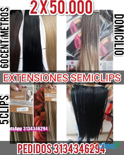 apariencia natural cortinas de cabello en fibra alta calidad