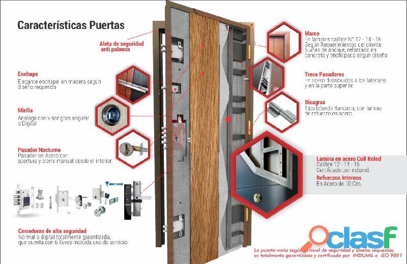 Multipuertas S.A.S.   Puertas De Seguridad Bogotá   Blindadas   Cortafuego   Puertas de Seguridad