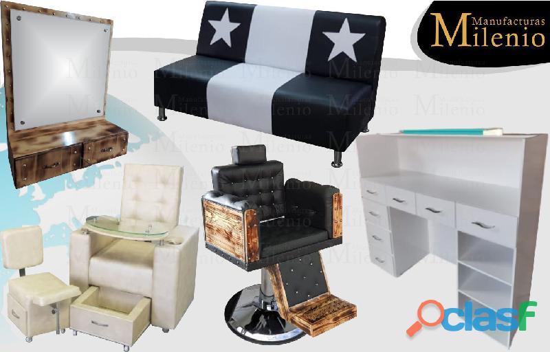 280 muebles para peluqueria, lavacabezas, silla de peluqueria, mesa manicura.