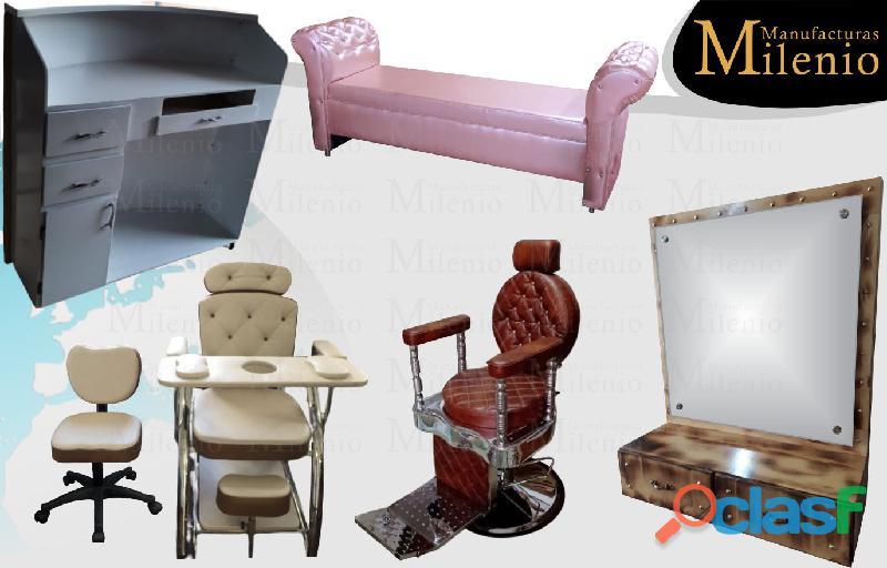 283 mobiliarios de peluqueria, lavacabezas, silla de peluqueria, mesa manicura.
