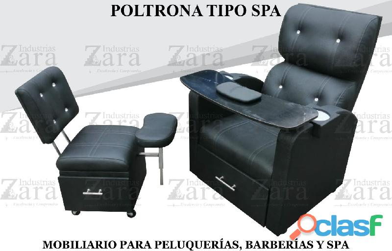 335 BELLA POLTRONA TIPO SPA, RECEPCION, SILLA PARA BARBERIA.