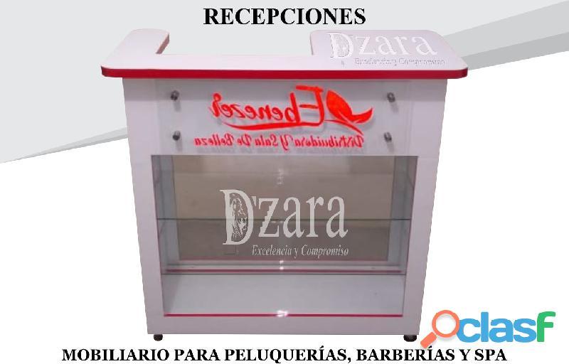 344 CONFIABLE RECEPCIONES, POLTRONA TIPO SPA, SILLA DE BARBERIA.