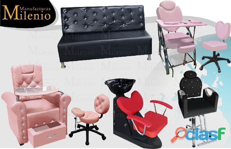 379 curiosos muebles para barberia, lavacabezas, silla de peluqueria, mesa manicura..