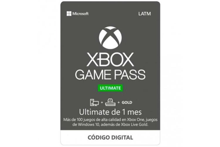 Pin game pass ultimate 1 mes