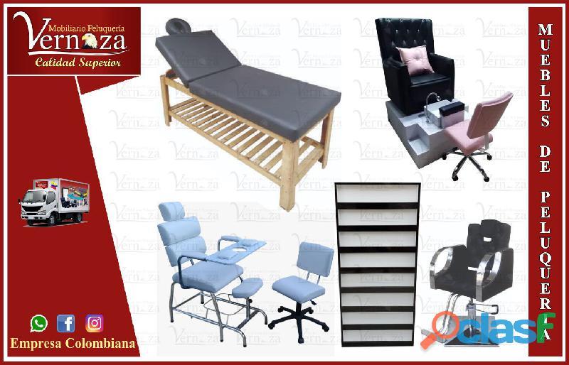 169 directo mobiliario para peluqueria, mesa manicura, lavacabezas, silla de peluqueria...