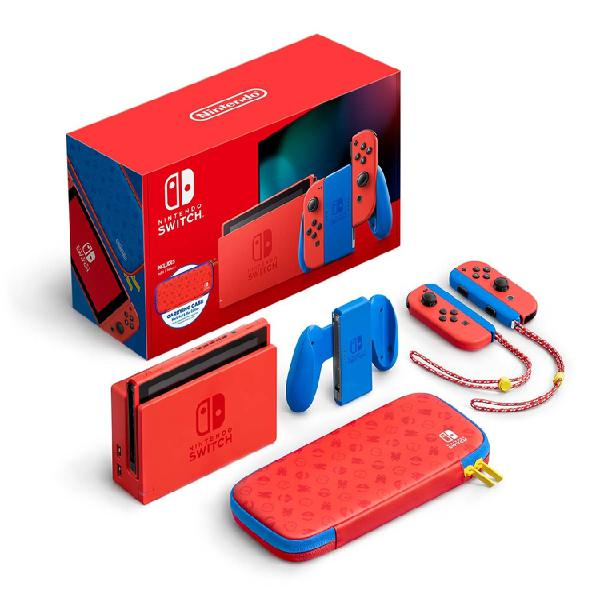 Consola NINTENDO SWITCH 1.1 Edicion Especial Mario Red/Blue
