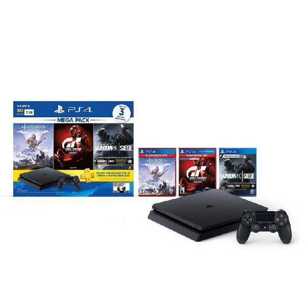 Consola PS4 Megapack 16 1 Tera + 1 Control + 3 Juegos