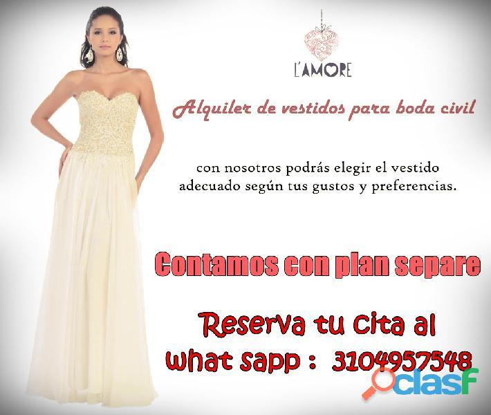 Alquiler de vestidos de novia en itagüí # mujer, # matrimonio # boda civil