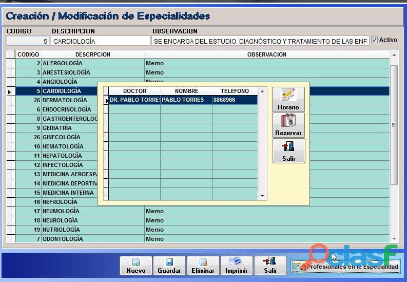 Sistema Control Consultorio Médico 2
