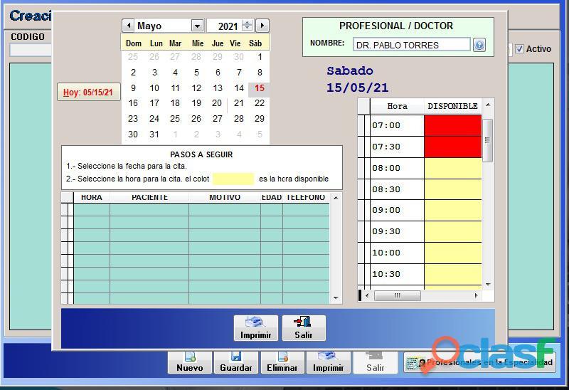 Sistema Control Consultorio Médico 4