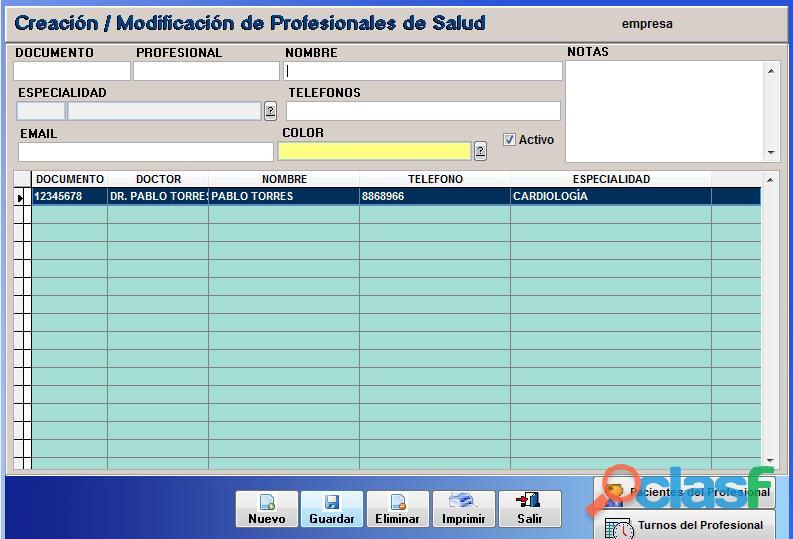 Sistema Control Consultorio Médico 6