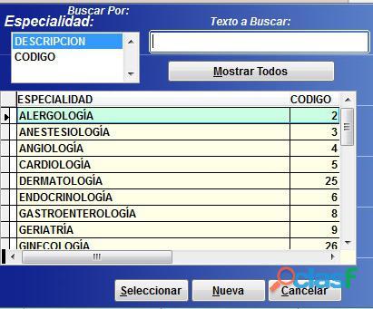 Sistema Control Consultorio Médico 7