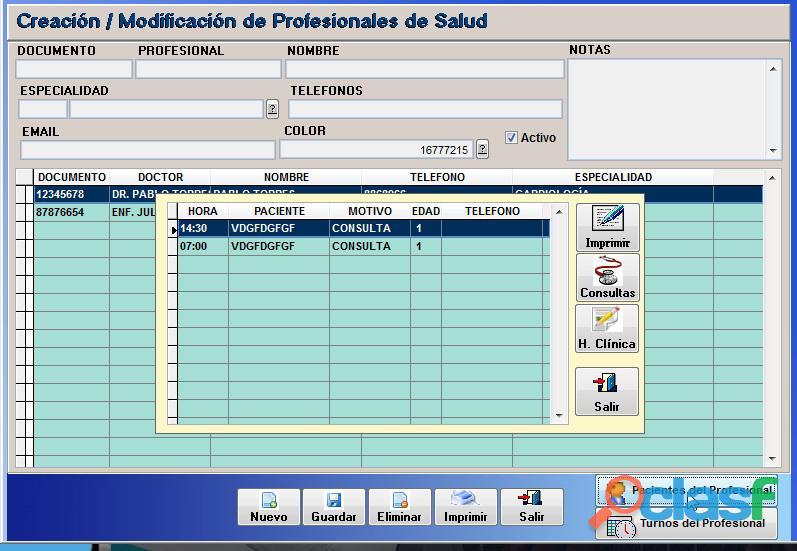 Sistema Control Consultorio Médico 8