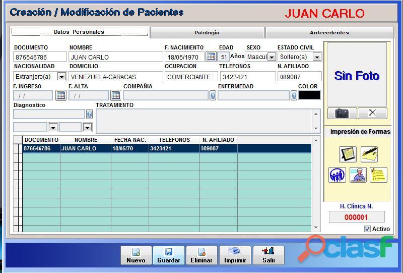 Sistema Control Consultorio Médico 13