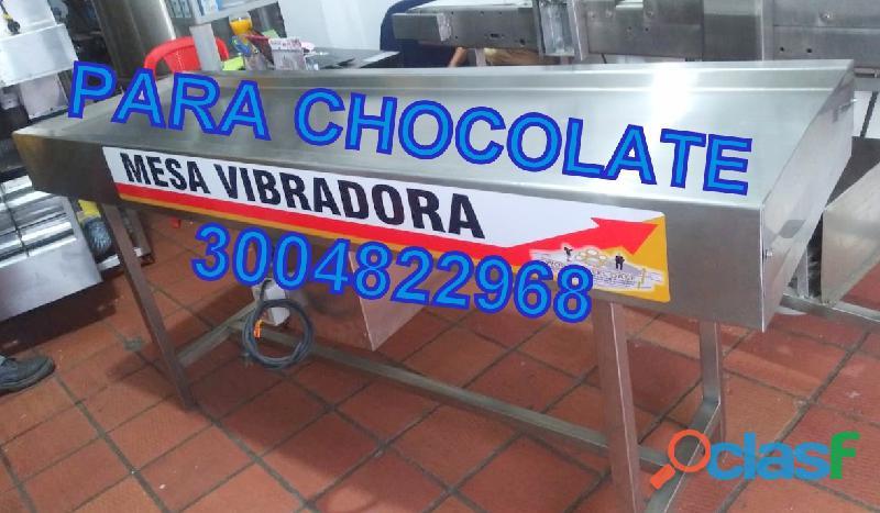 MESA VIBRADORA PARA CHOCOLATE   MEZCLADOR