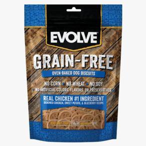Snacks perro evolve grain free biscuit - pollo - 12oz