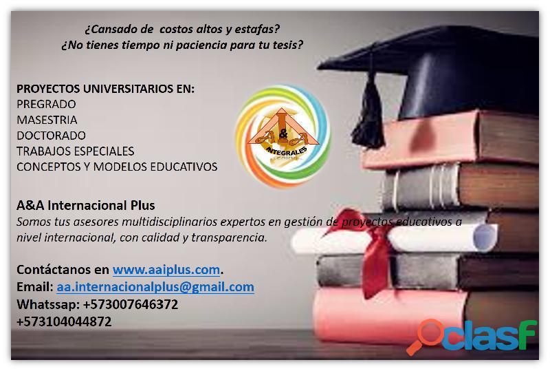 Desarrolladores y asesores de tesis de grado, postgrado