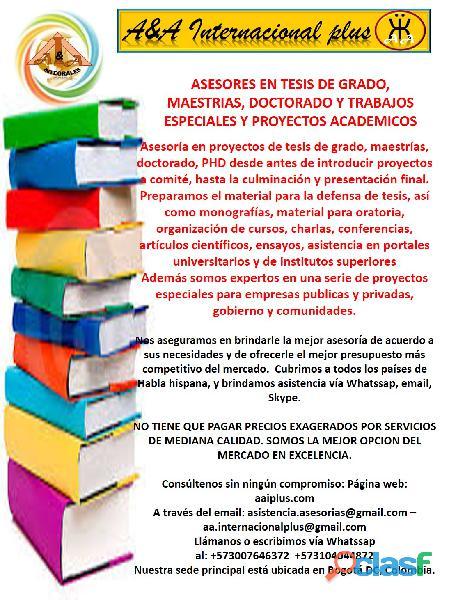 Desarrolladores y asesores de tesis de grado, postgrado 2