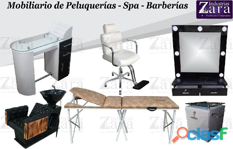 229 REFINADOS MUEBLES PARA SALAS DE BELLEZA, MESA MANICURA, LAVACABEZAS, SILLA DE PELUQUERIA...