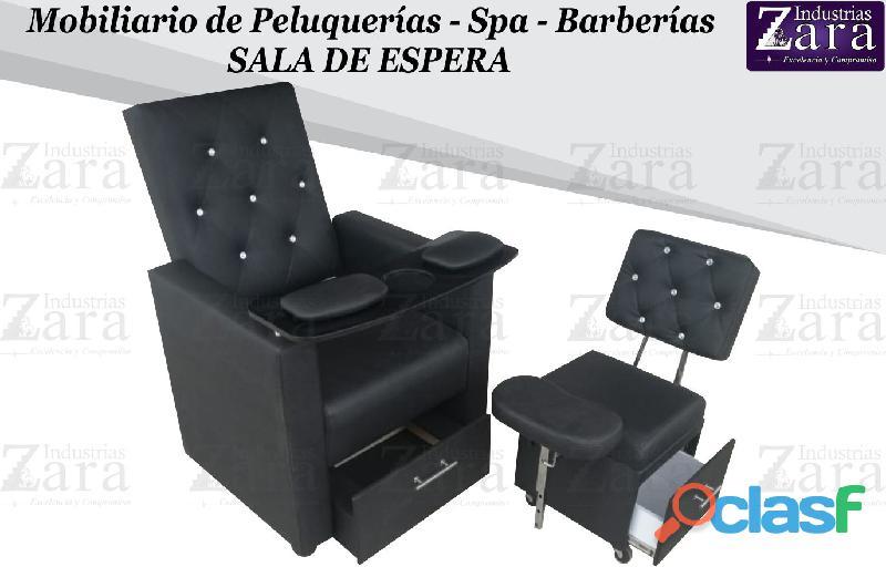 266 GRAN POLTRONA TIPO SPA, RECEPCION, SILLA PARA BARBERIA...