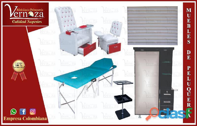 409distinguido muebles para estética, barbería, peluquería, spa, silla manicura y pedicure, lavacabe