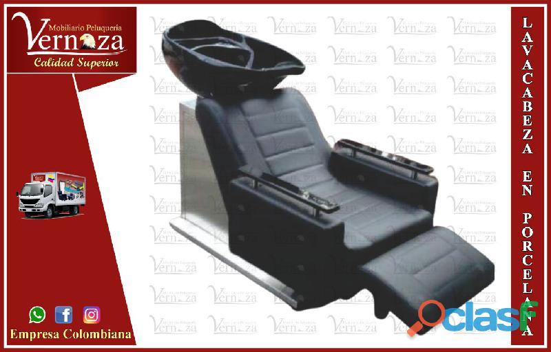413 buenísima silla de manicure, silla barbería, poltrona pedicure y camillas, lavacabezas...