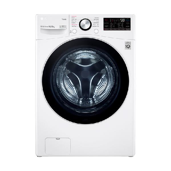 Lavadora/secadora lg carga frontal 16kg wd16wg2s6 ai blanco