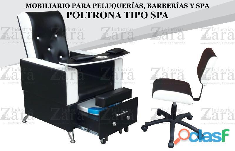 131 ideal poltrona tipo spa, recepcion, silla para barberia.,.