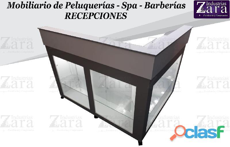 161 clasica recepcion, poltrona tipo spa, silla de barberia.,.
