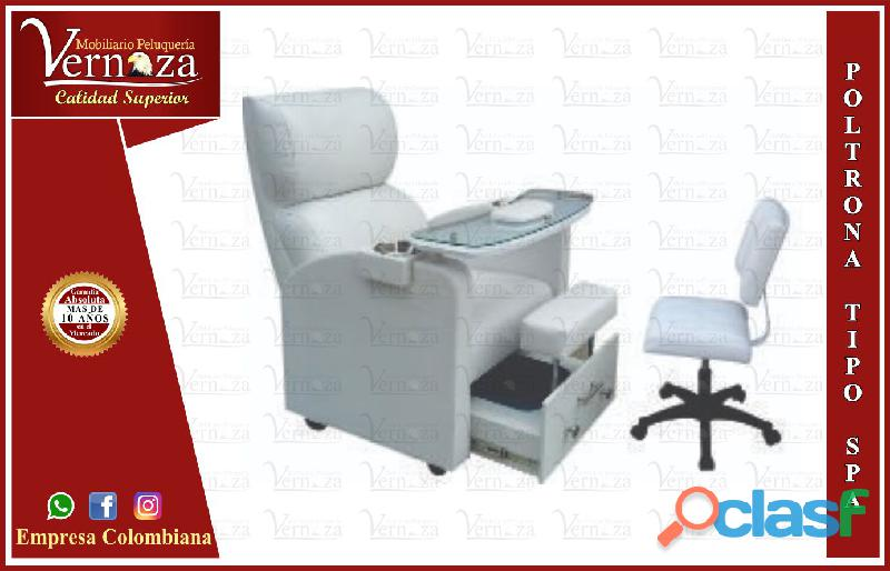 200 extraordinaria poltrona manicure, recepcion, silla para barberia.,.,