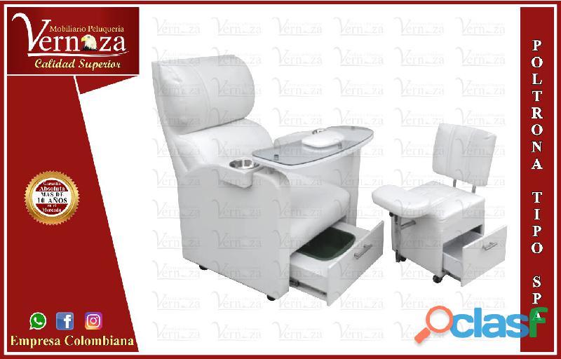 269 dinamico poltrona manicure, recepcion, silla para barberia..,
