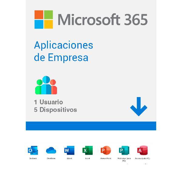 Licencia microsoft 365 aplicaciones empresa office +