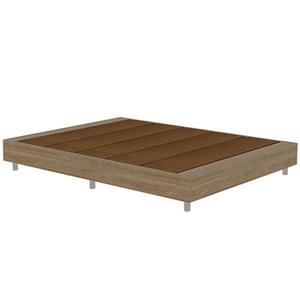 Base cama doble oxford miel - base cama doble oxford
