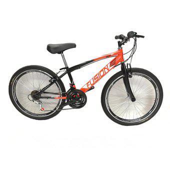 Bicicleta todo terreno rin 24 en acero 18 vel. aro d/p color