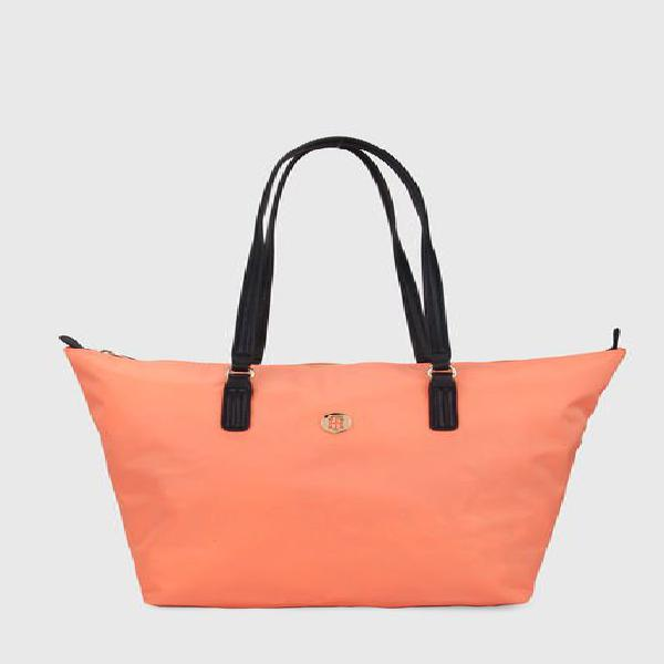 Bolso coral-negro tommy hilfiger