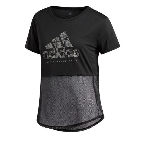 Camiseta adidas own the run paper floral mujer