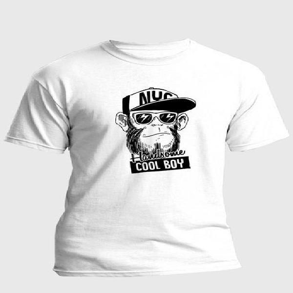 Camiseta estampada hombre negro-blanco kuva - mico animal